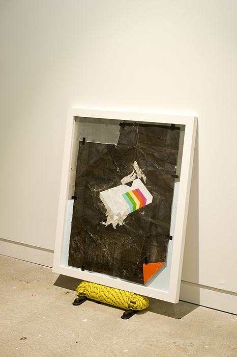 Chris Dolman. Blank 2012. Mixed media on paper and aluminium, rope, door stops